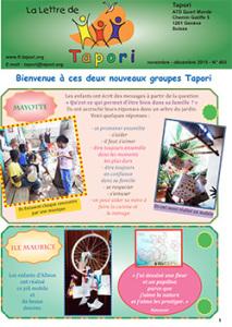 Novembre- Décembre 2015: 1 page Lettre Tapori 403